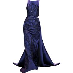 Elie Saab - edited by mlleemilee found on Polyvore featuring dresses, gowns, long dresses, elie saab, long blue evening dress, elie saab gowns, blue ball gown and blue gown
