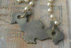 Upcycled Vintage Found Object Necklace Door by UPcycledWorks