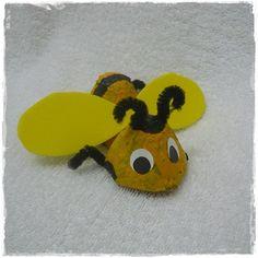 A baby bumblebee, egg carton craft