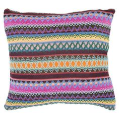 Throw pillow with a multicolor geometric motif.    Product: Set of 2 pillowsConstruction Material: 100% Polyest...
