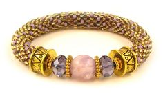 Cape Amethyst Bead Crochet Bracelet Kit by Ann Benson