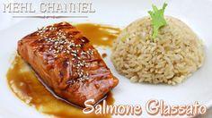 Ricetta Salmone Glassato con Riso al profumo di Limone   Mehl Channel