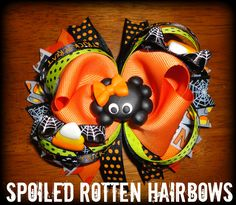 Ribbon Hair Bows, Bow Hair Clips, Halloween Hair Bows, Making Bows, Spoiled Rotten, Felt Bows, Hair Flowers, Ribbon Crafts, Girls Bows