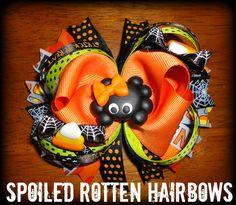 Ribbon Hair Bows, Bow Hair Clips, Halloween Hair Bows, Making Bows, Spoiled Rotten, Felt Bows, Hair Flowers, Ribbon Crafts, Cute Bows