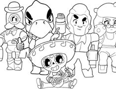 Coloring pages Brawl Stars. Print Them for Free! Best Picture For Brawl Stars Coloring Pages emz For Star Coloring Pages, Free Coloring, Coloring Sheets, Coloring Books, Survival Kit Gifts, Hanukkah Crafts, Unicorn Cat, Toy Story Birthday, Playroom Decor