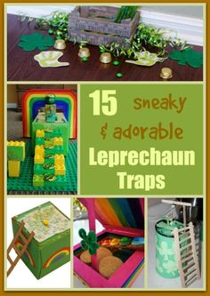 You better watch out! The Leprechaun is coming on St. Patrick's Day!  Try to catch him by making one of these 15 Sneaky & Adorable Leprechaun Traps For Kids. #stpatrick #stpatricksday #saintpatty #kidscraft #leprechauntrap #leprechaun #rainbow #lego #legos