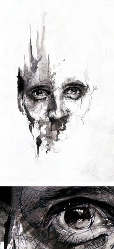 Pencil Portrait Mastery - Textured Illustrations by Florian Nicolle aka Neo Pencil Portrait, Portrait Art, Portrait Ideas, Pintura Graffiti, A Level Art, Gcse Art, Art Plastique, Medium Art, Female Art