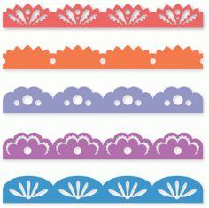 Silhouette Online Store - View Design #55446: five decorative borders