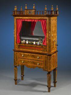 Antique Music Box, Antique Automaton, Showcase Cylinder, Mermod Freres ~ M.S. Rau Antiques