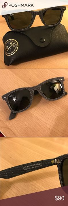 🆕 Denim Ray Ban Original Wayfarers (RB2140) RB2140 - Unworn, gray Ray Ban original wayfarers. Dark gray non-gradient lens. In perfect condition with the case. Will send more pics, just ask - and feel free to make an offer! Ray-Ban Accessories Sunglasses
