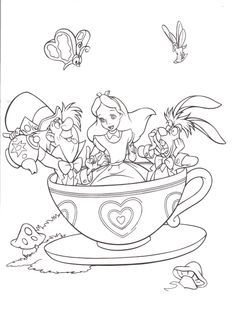 Disneyland Park Coloring Pages