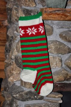 The Cabin Countess : My Basic Pattern for Knitting a Christmas Stocking Knit Christmas stocking using circular needles