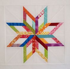 Maine Star from Carol Doak's 50 Paper Pieced Stars Book (Photo: Quilt Around the World 2 by Quilty Girl2, via Flickr)