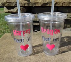 Hey, I found this really awesome Etsy listing at https://www.etsy.com/listing/248748089/two-flower-girl-tumblers-flower-girl