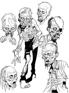 40 Insanely Cool Zombie Drawings and Sketches - Bored Art 40 Insanely Cool Zombie Drawings and Sketches - Bored Art Arte Horror, Horror Art, Zombie Kunst, Zombie Illustration, Zombie Drawings, Arte Black, Scary Images, Zombie Face, Zombie Disney