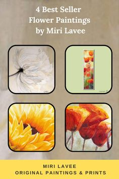 Miri Lavee's flower paintings will fill your home with color, light & joy. large colorful original paintings & canvas prints. #flowerpainting #originalpainting #livingroompainting #colorfulpainting #largewallart #canvaswallart Large Canvas Art, Canvas Wall Art, Canvas Prints, Bedroom Canvas, Bedroom Art, Floral Artwork, Floral Wall Art, Flower Paintings, Colorful Paintings