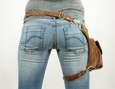Outlaw Pack Brown Thigh Holster Protected Purse by WCCouture