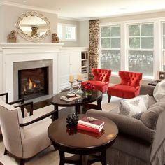 Revere Pewter Living Room Design Ideas, Remodels & Photos