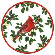 Caspari Winter Songbirds Dessert/Salad Plate - 8 In  Price: US $4.99 & FREE Shipping  #kitchen #love #home #lovedkitchen