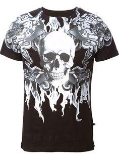 Philipp Plein Skull Print T-shirt - Stefania Mode - Farfetch.com