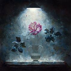 """Rose """"oil painting"""" by Alexei Antonov"""