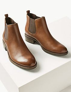 Shop this Leather Chelsea Ankle Boots at Marks & Spencer. Browse mny other at Marks & Spencer NZ Holiday Shoes, Chelsea Ankle Boots, Real Leather, Pairs, Chic, How To Wear, Collection, Women, Fashion