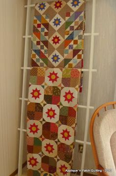 DIY Quilt Ladder from Applique 'n Patch Quilting