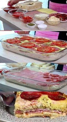 INGREDIENTES 1 pacote de pão forma 300g de mussarela fatiada 300g de presunto fatiado 2 tomates cortados em rodelas 1 caixinha de creme de leite 1 sachê de molho de tomate 1 envelope de tempero a gosto orégano a gosto COMO FAZER A RECEITA DE SANDUÍCHE DE PÃO DE FORMA ASSADO MODO DE PREPARO Retire … Easy Cooking, Cooking Recipes, Good Food, Yummy Food, Portuguese Recipes, Food Videos, Food Porn, Food And Drink, Favorite Recipes