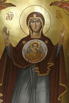 "https://flic.kr/p/CJ9d1T | Theotokos | ""Called in the Gospels ""the mother of Jesus"", Mary is acclaimed by Elizabeth, at the prompting of the Spirit and even before the birth of her son, as ""the mother of my Lord"". In fact, the One whom she conceived as man by the Holy Spirit, who truly became her Son according to the flesh, was none other than the Father's eternal Son, the second person of the Holy Trinity. Hence the Church confesses that Mary is truly ""Mother o..."