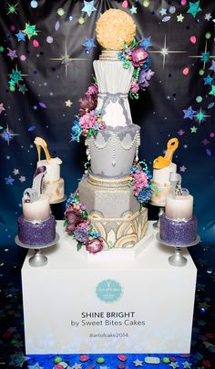 'Shine Bright' by Sondra & her team at Sweet Bites Cakes #artofcake2014 #shorecity http://www.shore-city.co.nz/trends-events