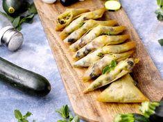 Samossas courgettes mozzarella olive menthe