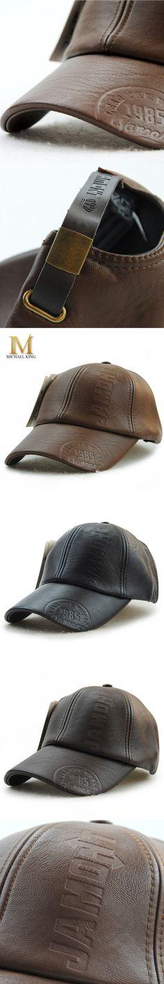 Michael king New fashion high quality pu leather baseball cap fall winter hat cap casual moto snapback men hat