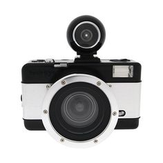 #Fisheye No.2 35mm #Camera (Black and Silver) The black and silver-colored Fisheye No.2 35mm Camera from Lomography is a compact 35mm film camera that features a plastic 10mm fisheye lens with a fixed f/8 aperture for producing a distorted circular image on a rectangular frame