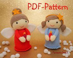 Crochet angel Amigurumi Patterns | Name: 'Crocheting : Amigurumi Angel crochet pattern 26Page