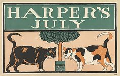 Edward Penfield (American, 1866–1925 ). HARPER'S / JULY, 1898. The Metropolitan Museum of Art, New York. Museum Accession, transferred from the Library, 1957 (57.627.9(26)) #cats