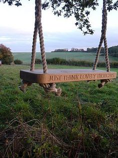 English Oak Swing I love the Peter Pan quote, and on a swing - my favorite thing to do in the summer.I love the Peter Pan quote, and on a swing - my favorite thing to do in the summer. Outdoor Fun, Outdoor Spaces, Outdoor Living, Outdoor Decor, Outdoor Swings, Indoor Swing, Dream Garden, Home And Garden, Peter Pan Quotes