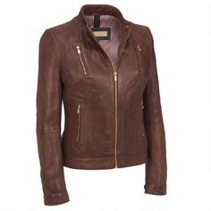 Black Rivet Leather Jacket w/ Vertical Zip Chest Pockets - Short - Women's & Plus Size - Wilsons Leather