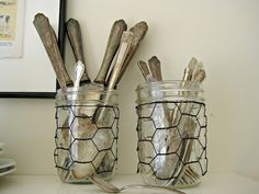 chicken wire sleeves for mason jars
