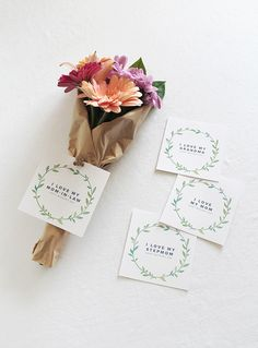 diy printable mothers day wreath gift cards