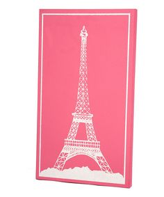 Look at this #zulilyfind! Pink Eiffel Tower Wall Art by Twelve Timbers #zulilyfinds