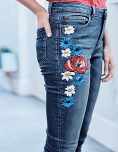 Cavendish Girlfriend Jeans (Embroidered)