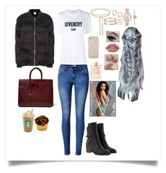"""""""Puffer Jacket Style! ✌"""" by valenlss ❤ liked on Polyvore featuring WithChic, Givenchy, P.E Nation, Christian Louboutin, Yves Saint Laurent, Cartier, Accessorize, Michael Kors, Lime Crime and Chanel"""