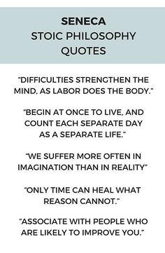 Stoic Philosophy Quote - SENECA #stoicism #stoic #inspiration #quotes #philosophy