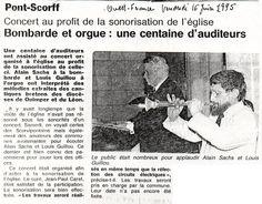Duo Sachs - Guillou - Ouest-France 16.6.1995 - Pont-Scorff - Concert au profit de la sonorisation de l'église