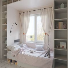 143 bedroom ideas for small rooms page 15 Small Room Bedroom, Small Rooms, Girls Bedroom, Bedroom Decor, Bedroom Ideas, Bedrooms, Bedroom Seating, Bedroom Curtains, Room Interior Design