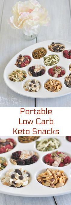 Portable Low Carb Keto Snacks | Peace Love and Low Carb via @PeaceLoveLoCarb