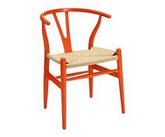 Silla de madera de haya - naranja y natural