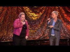 Ellen and Rebel Wilson Rapping.