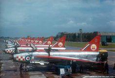 English Electric Lightning F.Mk 1A of 56Sqn 'The Firebirds' display team