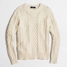 Factory Slim Fisherman Cable Crewneck Sweater | J Crew